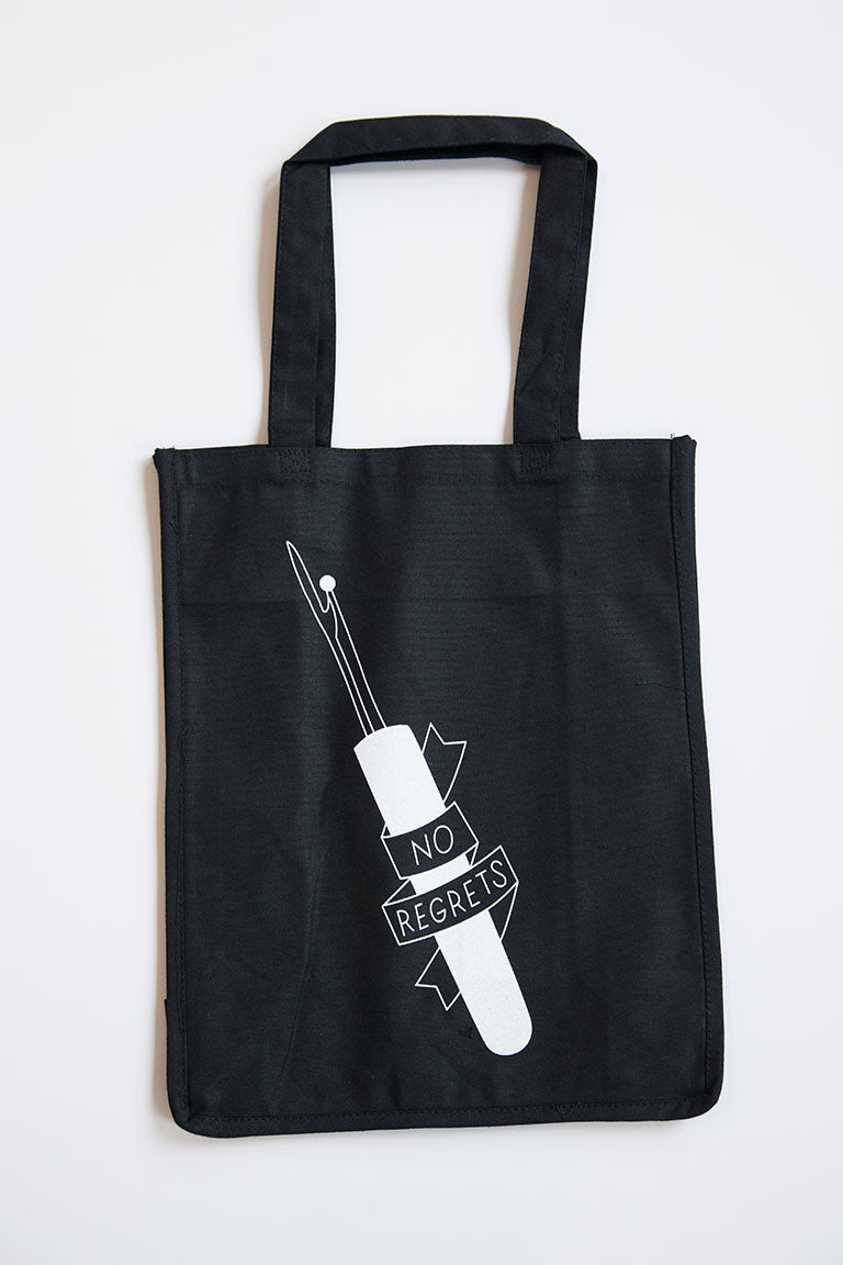No Regrets Seam Ripper Tote Bag