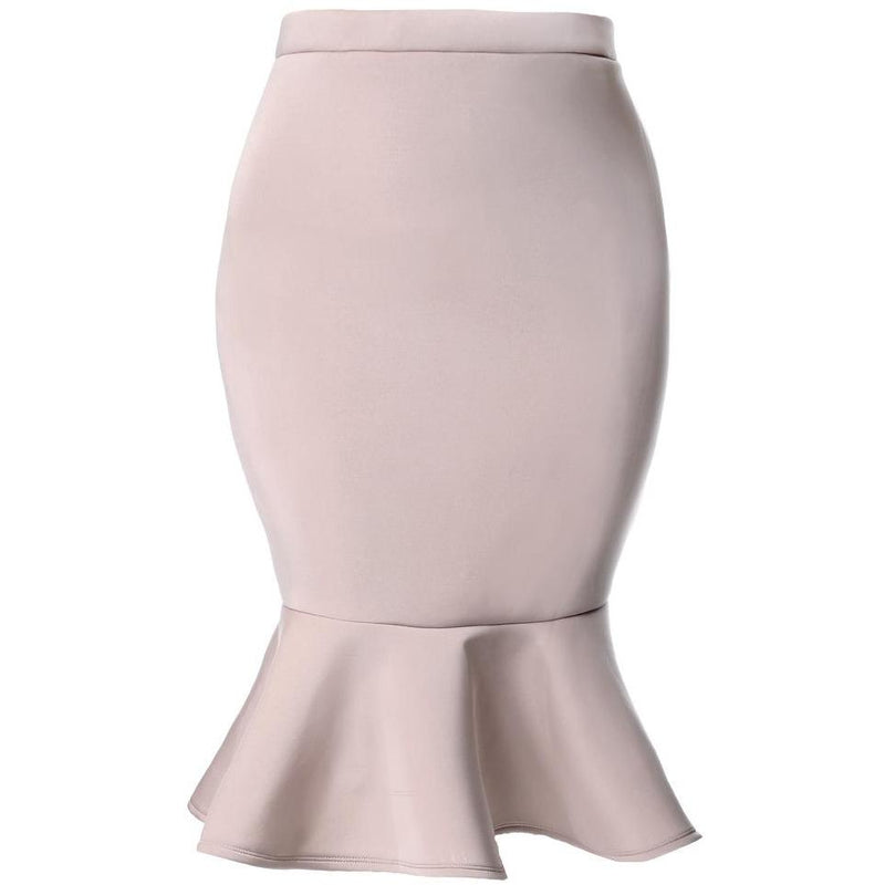 Plus Size Fluted Scuba Skirt, Dusty Rose