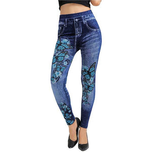 Bloomday Plus Size Jeans Leggings