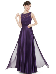 Midnight Oasis Pleated  Floor-Length Plus Size Evening Dress