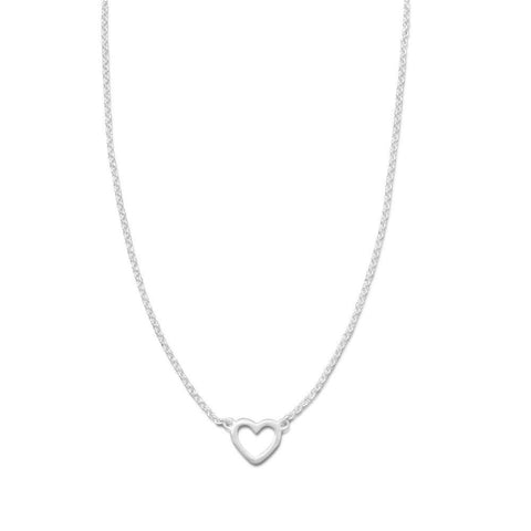 Tiny Heart on Sterling Chain