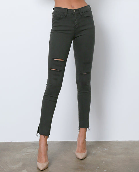 Look Better Skinny Denim Jeans - Olive - Piin | ShopPiin.com