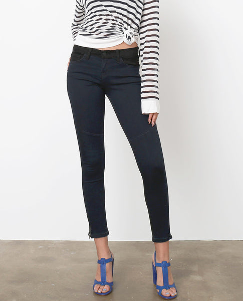 Outtake Two-Tone Skinny Jeans - Black/Dark Blue - Piin | ShopPiin.com
