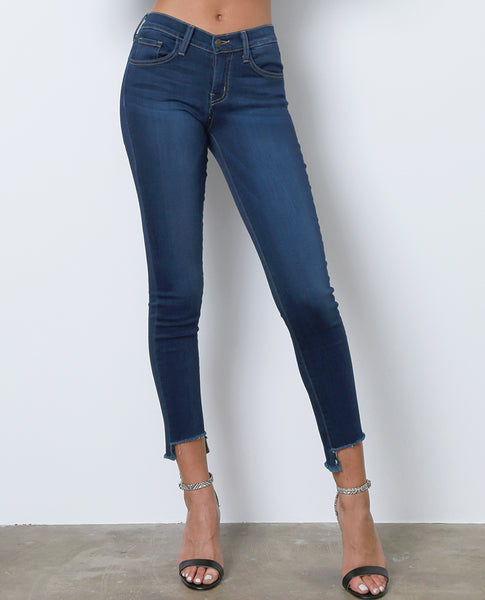 Lost Mind Cropped Skinny Denim Jeans -  Blue - Piin | ShopPiin.com
