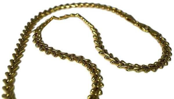 Vintage 14k Yellow Gold Fancy Link Necklace 18 Inch - Premier Estate Gallery