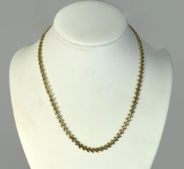 Vintage 14k Yellow Gold Fancy Link Necklace 18 Inch - Premier Estate Gallery 2