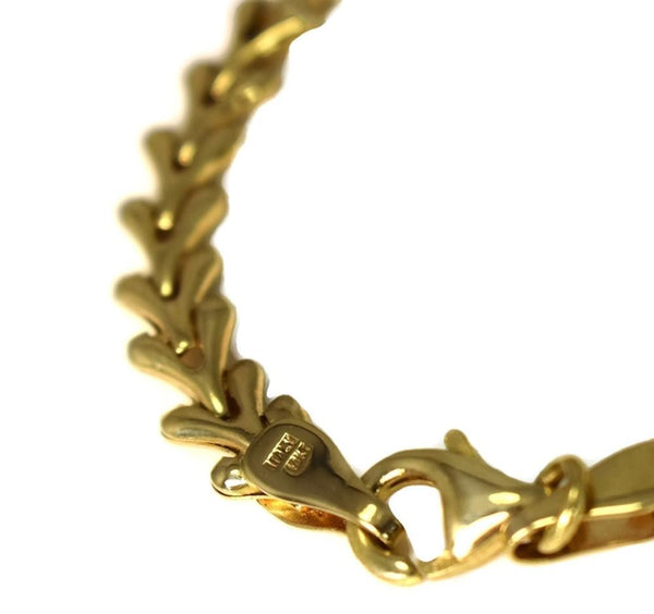 Vintage 14k Yellow Gold Fancy Link Necklace 18 Inch
