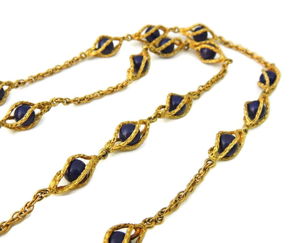 Rare Vintage Omega Watch Pendant Necklace 14k Gold and Lapis - Premier Estate Gallery  - 8
