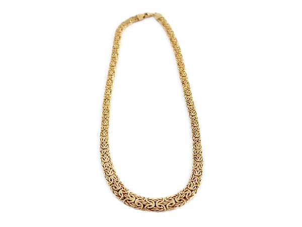 Vintage 14k Gold Byzantine Necklace Wide Heavy Link - Premier Estate Gallery 2