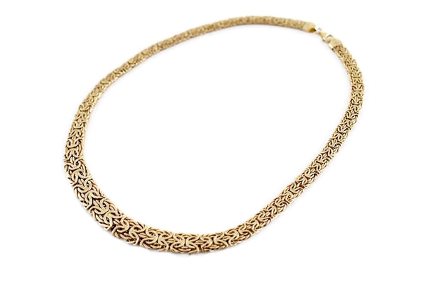 Vintage 14k Gold Byzantine Necklace Wide Heavy Link - Premier Estate Gallery 3