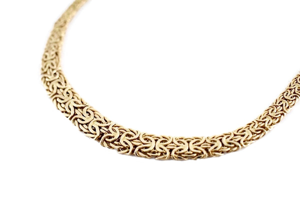 Vintage 14k Gold Byzantine Necklace Wide Heavy Link - Premier Estate Gallery 5