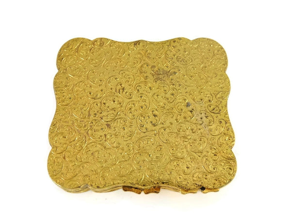 1940s Victorian Revival Compact Ornate Gold Leaf Scroll Work - Premier Estate Gallery  - 8