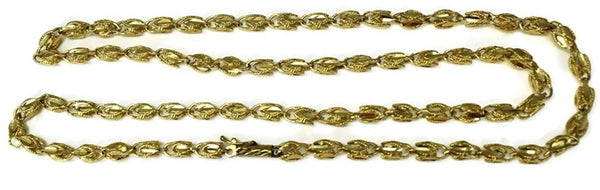 Estate 14k Gold Fancy Link Chain 24 inch - Premier Estate Gallery 1