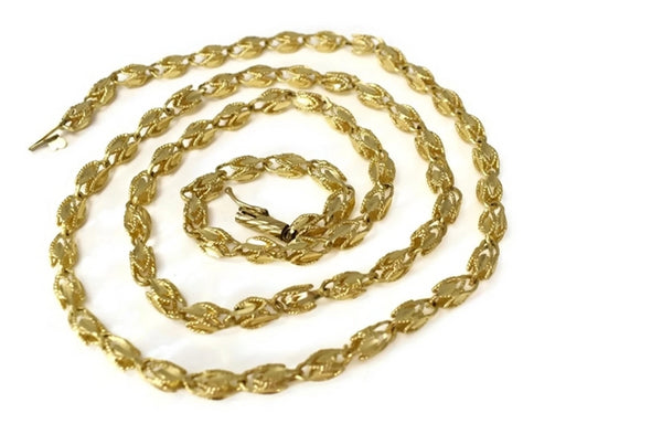 Estate 14k Gold Fancy Link Chain 24 inch - Premier Estate Gallery 2