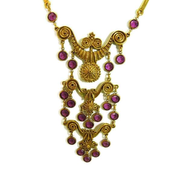 Haute Couture Egyptian Style Jewelry Set Purple Vintage - Premier Estate Gallery  - 3