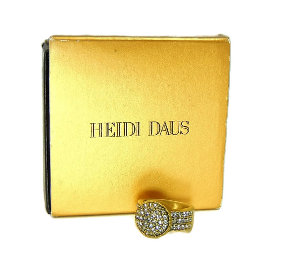 Heidi Daus Belgium Disc Crystal Ring Sz 7 - Premier Estate Gallery  - 2