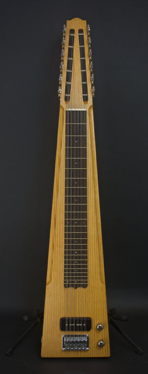 2018 Asher Electro Hawaiian 12-String Lap Steel Custom Shop, Red Oak, #1105, #2 of 2