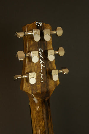 2013 Asher Hollow T Deluxe Master Series Black Limba, Bolivian Rosewood, Tortoise and Sterling Silver Detail #778 MINT CONDITION