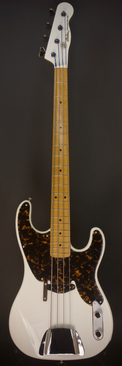 SOLD 2018 Asher Bass 56T-B4 Roasted Alder Body in Light Relic Olympic White Nitro, #1074