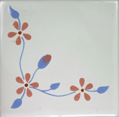 Especial Decorative Ceramic Mexican Tile - Rincon De Flores Delicadas