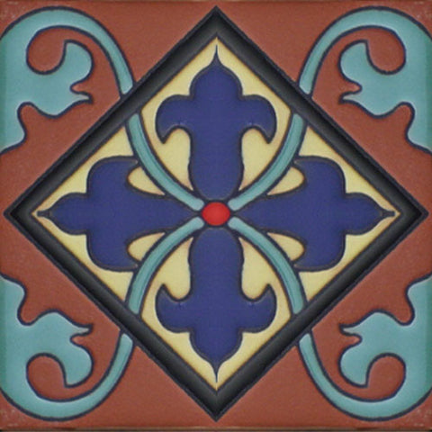 Mexican raised relief tile