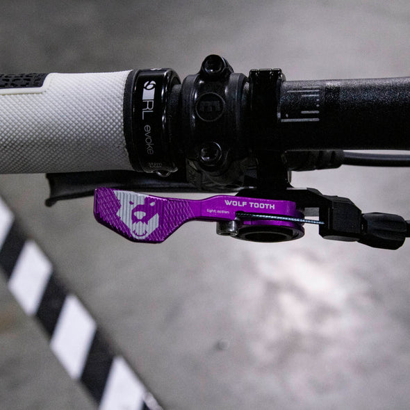 Wolf Tooth ReMote Dropper Lever Limited Edition Purple with Clamp