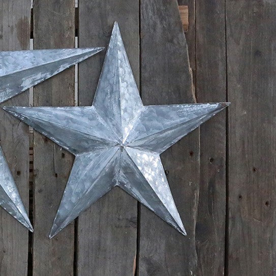 Antique Zinc Star Wall Decoration - Greige - Home & Garden - Chiswick, London W4