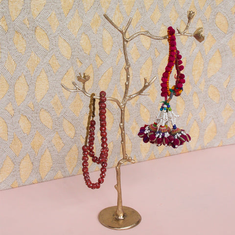 Brass Blossom Tree Jewellery Holder - Greige - Home & Garden - Chiswick, London W4