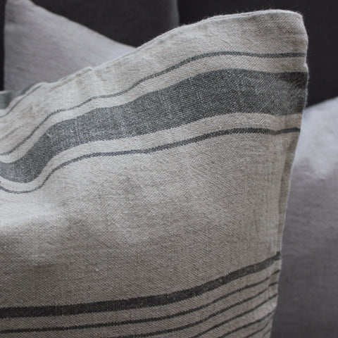 Linen Cushion Cover Grey Natural