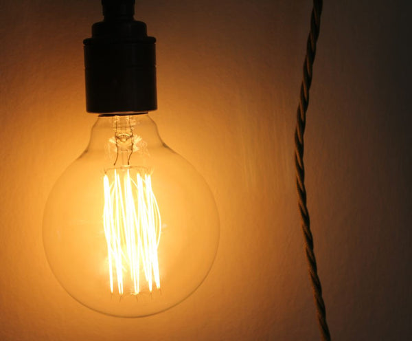 Vintage Style Decorative Filament Light Bulbs - Eddison Screw Fixing - Greige - Home & Garden - Chiswick, London W4