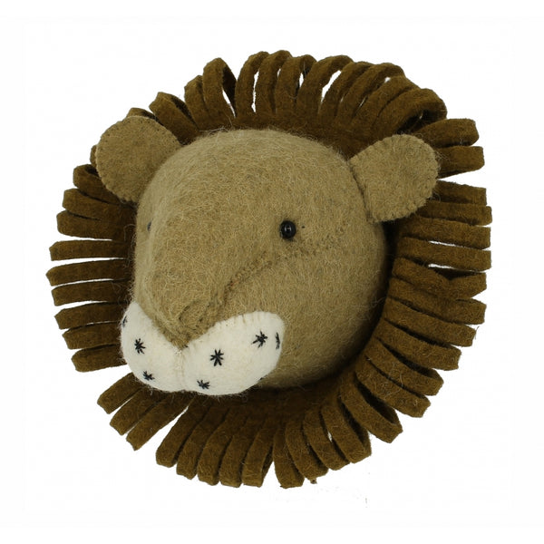 Mini Lion Head Felt Wall Art Fiona Walker