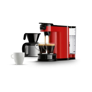 Philips Senseo Switch 2 In 1 Pad Und Filterkaffeemaschine Rot Hd7892 80