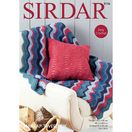Throw and Cushion Cover in Sirdar Harrap Tweed DK - Digital Version