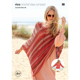 Sweater and Poncho in Rico Essentials Cotton Dk