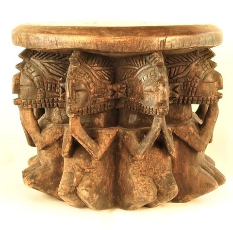 Baga Stool Supported by Nine Figures