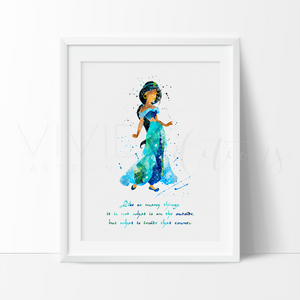 Princess Jasmine Quote Disney Girl Nursery Art Print Wall Decor