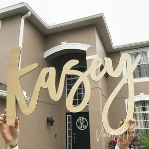 DIY Personalized Name Sign, Unpainted Wood Art Print - VIVIDEDITIONS