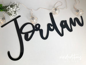 "36"" Personalized Name Sign, Acrylic or Wood Art Print - VIVIDEDITIONS"