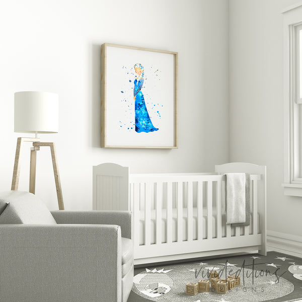 Princess Elsa Frozen Disney Princess Wall Art Decor