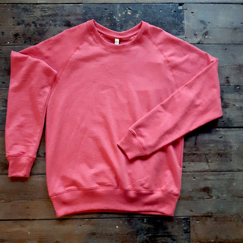 RED COTTON & WATER BOTTLE BLEND SWEATSHIRT