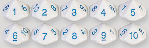 10 Sided Number Dice 1 to 10