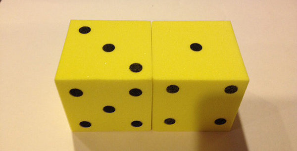 50MM Foam Spotted Dice