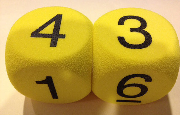 50MM Number Dice (round corners)