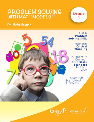 Problem Solving With Math Models Grade 1 (Black & White)