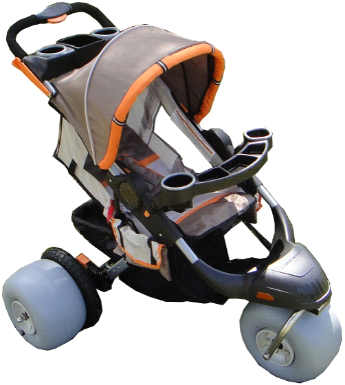 The Baby Bug Aluminium Beach Jogger Child Beach Stroller