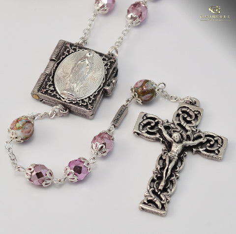 Our Lady Of Lourdes Silver Plated Rosary By Ghirelli