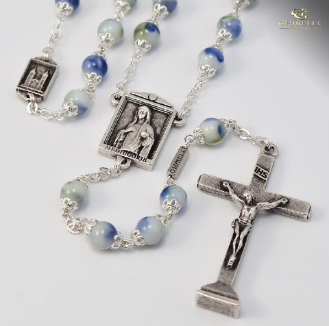 Medjugorie Silver Plated Rosary By Ghirelli