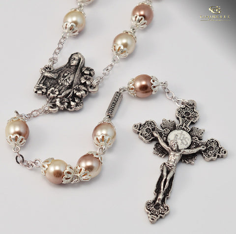 Our Lady Of Fatima Silver Plated Rosary   By Ghirelli SOLD OUT