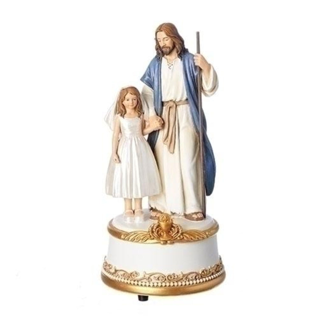 Musical  First Communion Little Girl With Jesus Figure