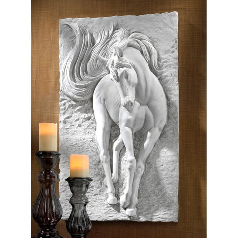 Equine Grandeur Striking Large Horse Wall Sculpture